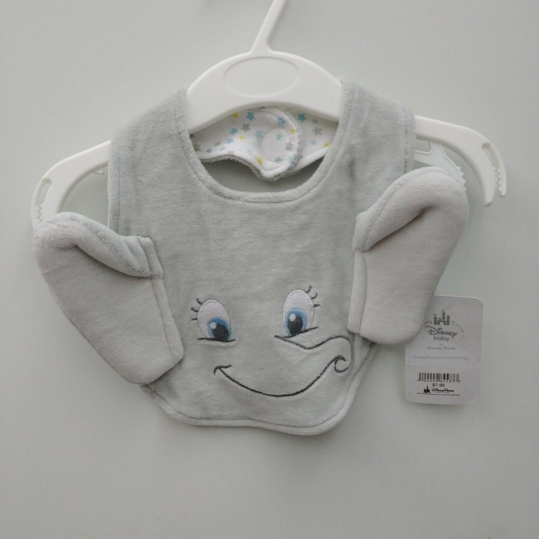 Disney store 迪士尼 Dumbo小飛象 公仔 全新 Disneyland dumbo bib