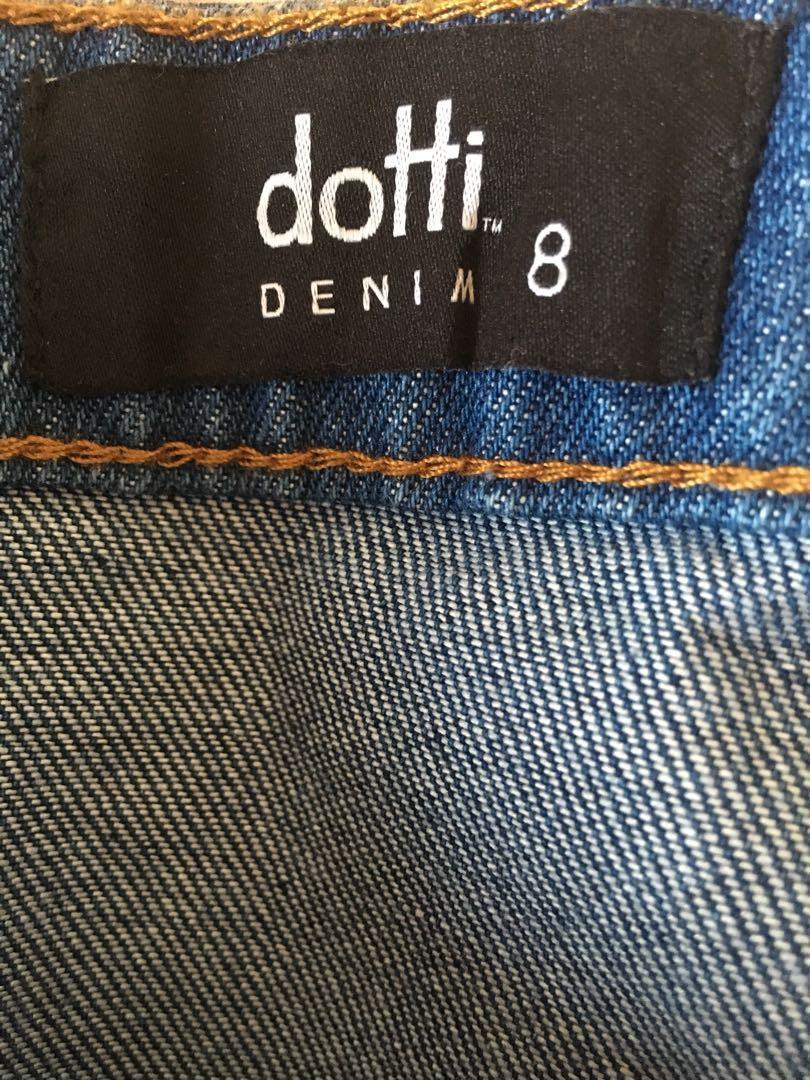 Dotti blue denim button down mini skirt size 8 (6 to small size 8)