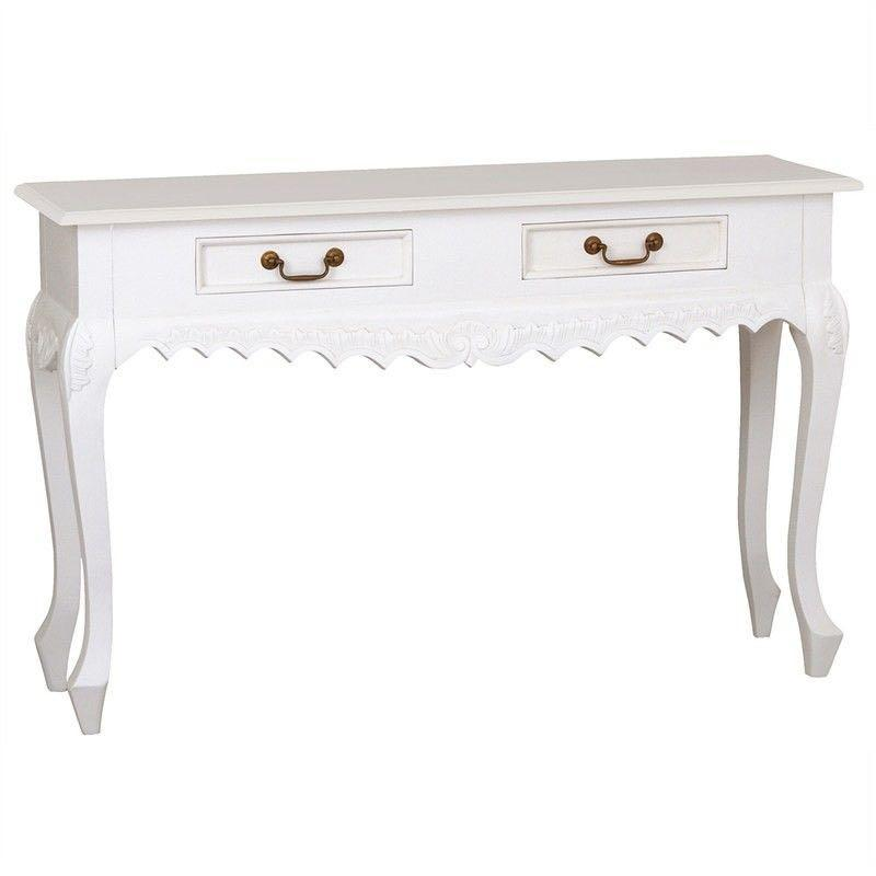French White Console Table Desk Country