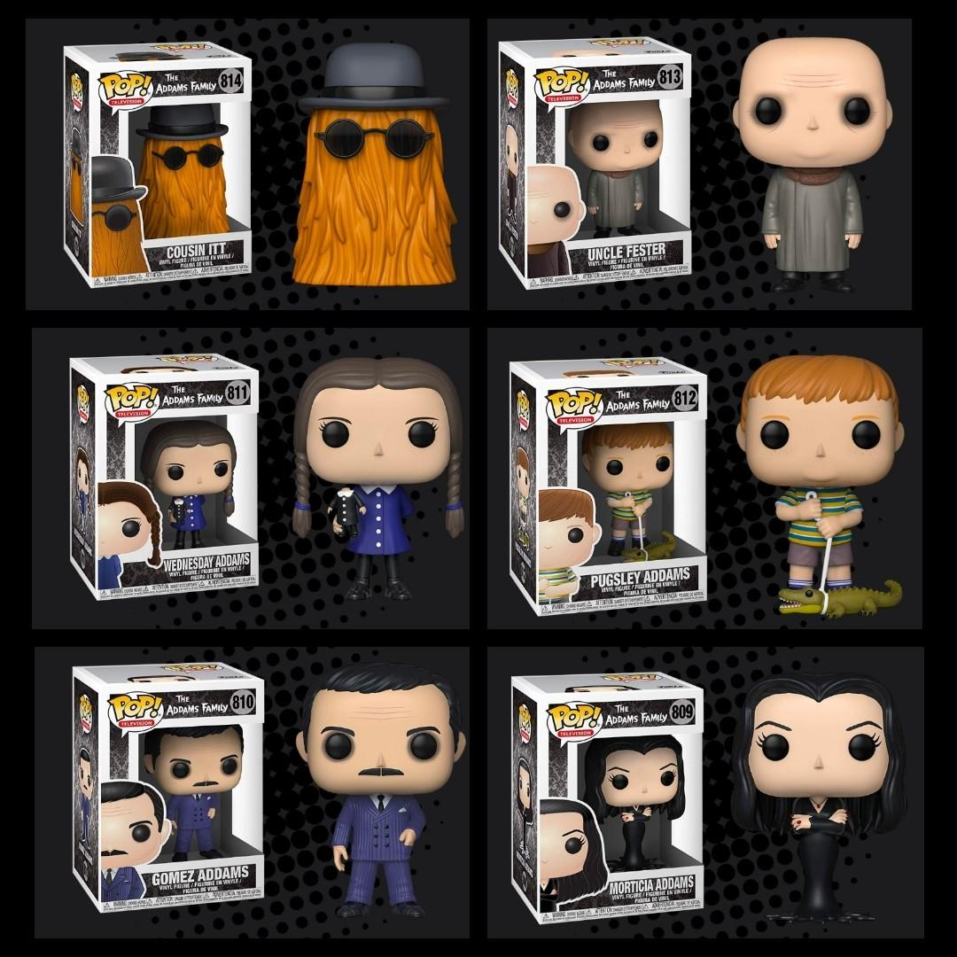 FUNKO POP - THE ADDAMS FAMILY (1964) - Gomez Addams - Morticia Addams -Pugsley Addams -Wednesday Addams - Uncle Fester - Cousin Itt