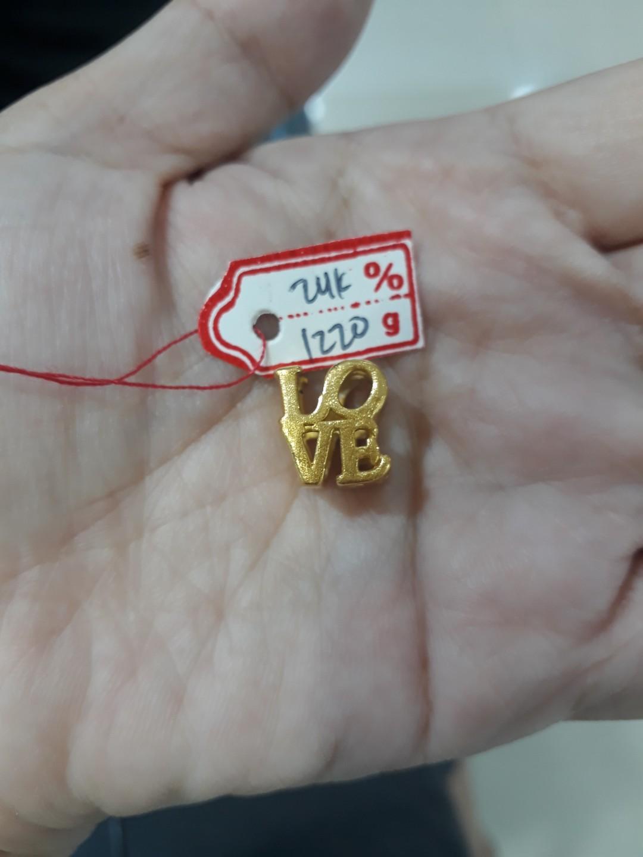 Gelang emas 24k love