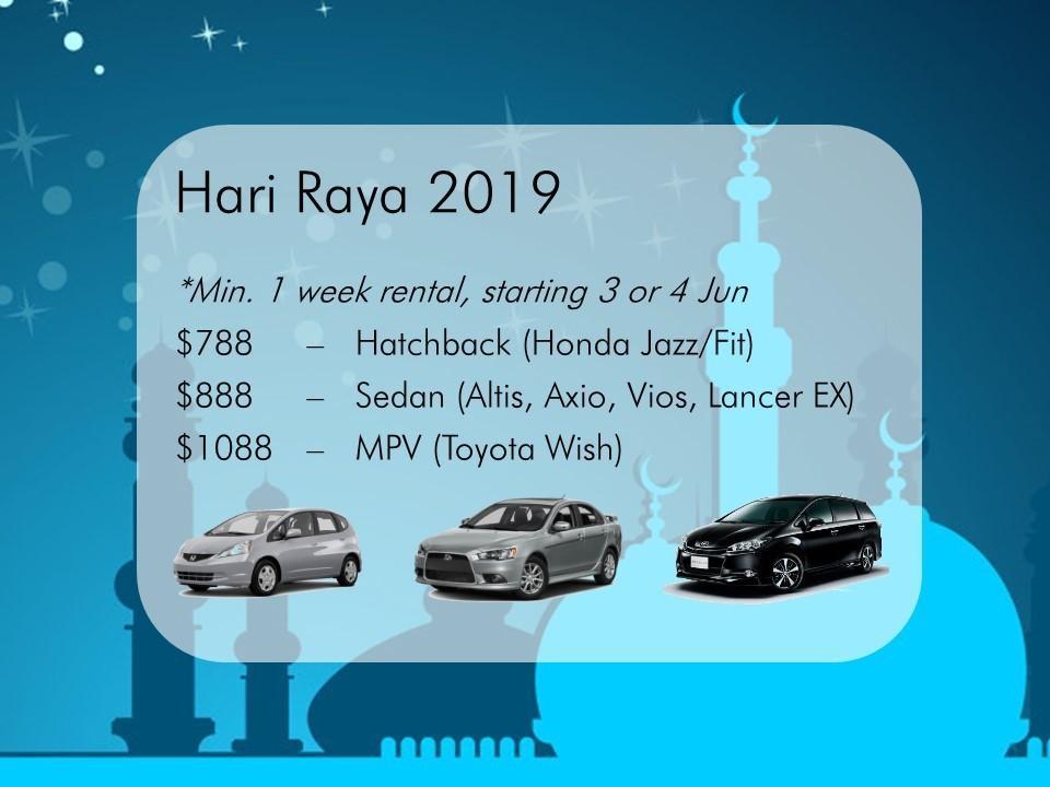 Hari Raya Car Rental 2019