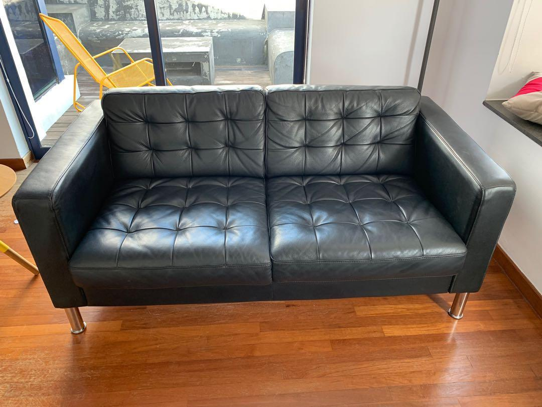 Super Ikea Leather Landskrona Sofa 2 Seater Furniture Sofas On Gmtry Best Dining Table And Chair Ideas Images Gmtryco