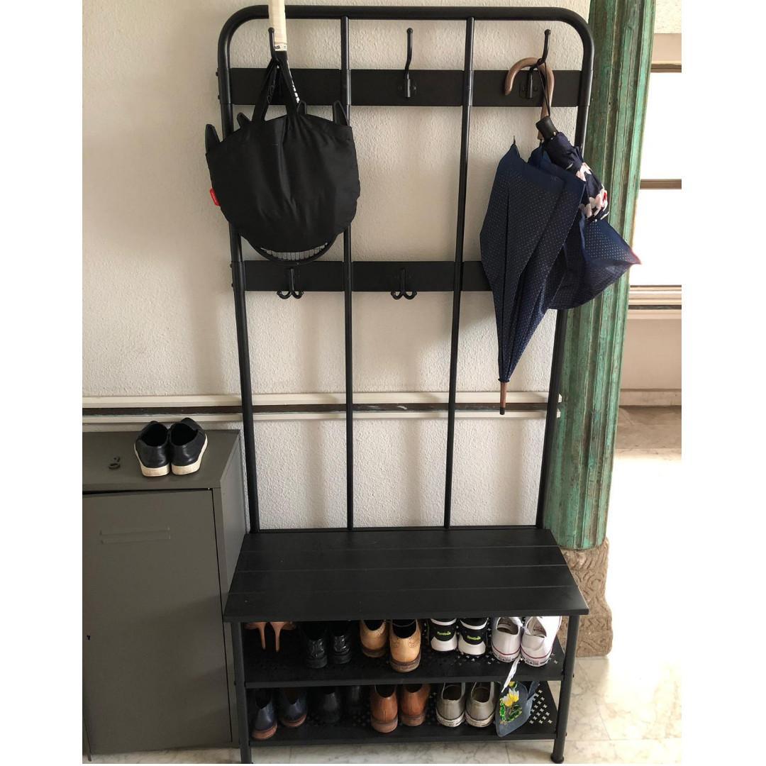 Ikea Pinnig Coat Rack W Shoe Storage