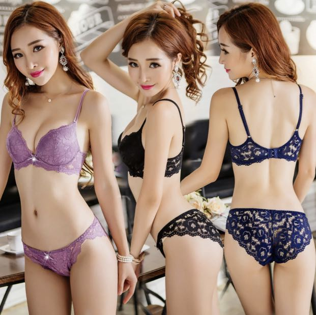 adbf1aac0c4d8 janelle lace push-up bra and pantie set, Women's Fashion, Clothes, Others  on Carousell