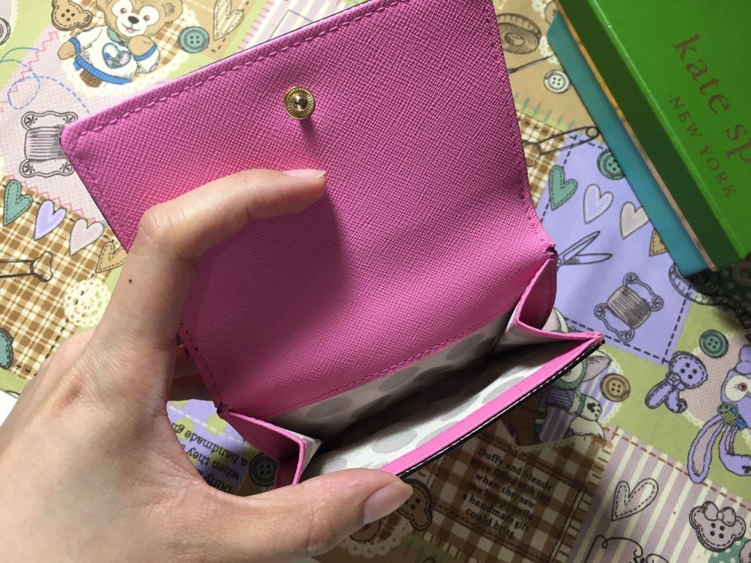 Kate spade 粉色短夾