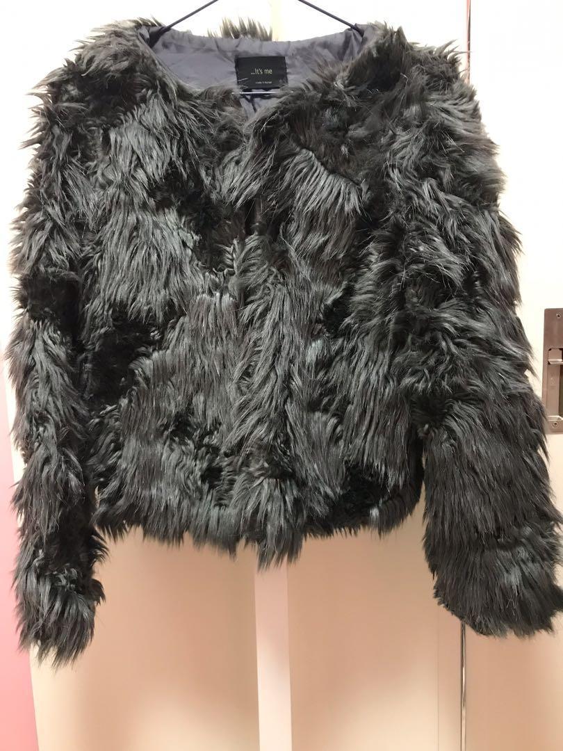 Korean style fur top