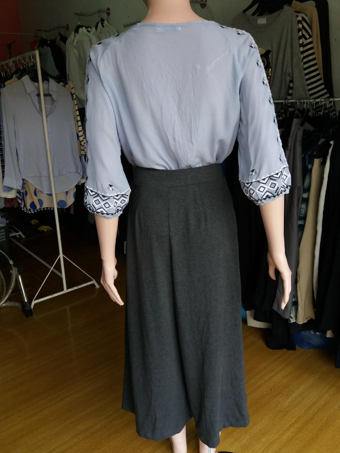 Kulot uniqlo s & blouse korea m