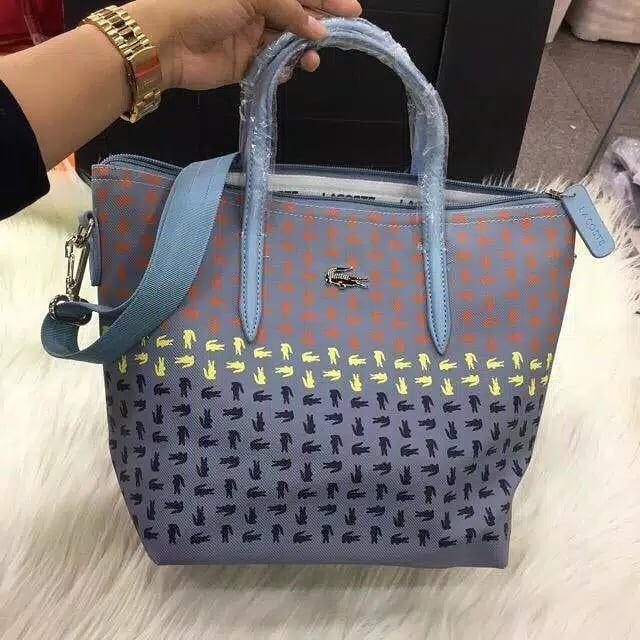 Lacoste tote sling ombre