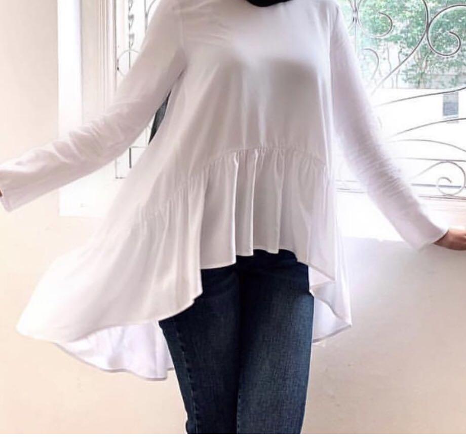 Locka - Flowy Blouse in White