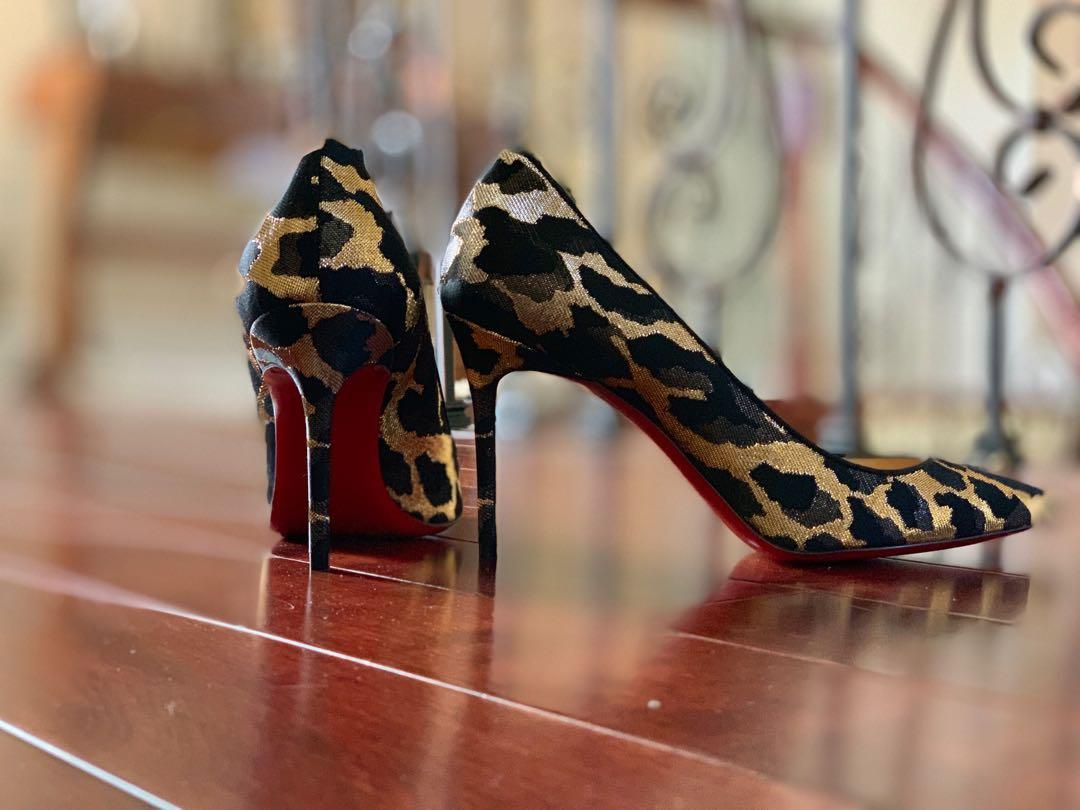 Louboutin-Limited Edition 2-tone Leppard Print-7.5