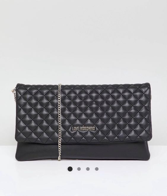 166cad72d10 Love Moschino quilted logo chain bag, Luxury, Bags & Wallets, Sling ...