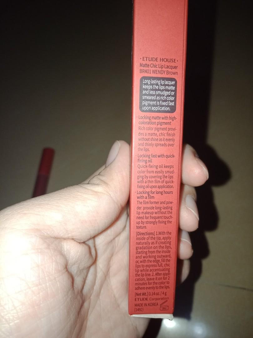 Matte chic lip lacquer Wendy Brown BR401