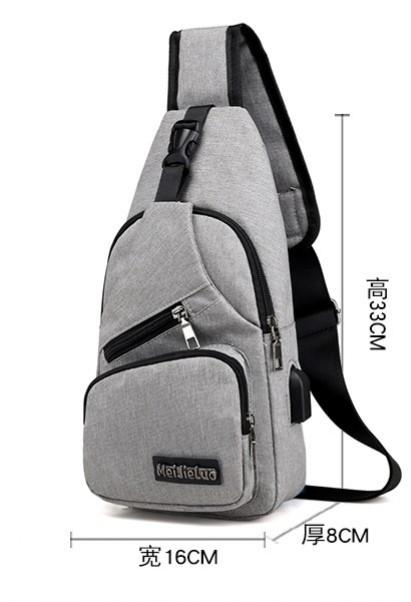 MEN SLING BAG CROSSBODY BAG MESSENGER BAG (with USB and earphone compartment)