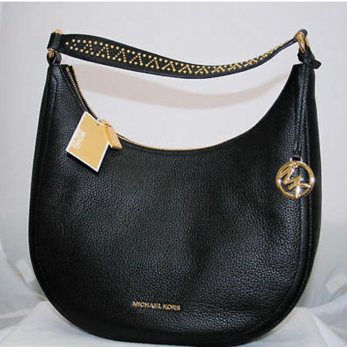 638747271121 Michael Kors Lydia Hobo Bag Black Mother's Day, Women's Fashion ...