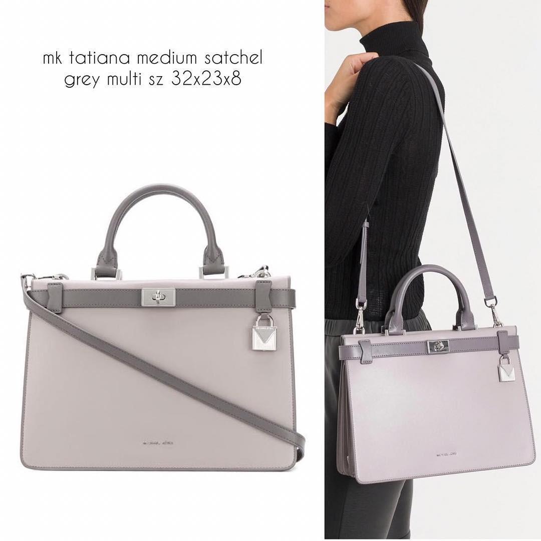 Michael Kors Tatiana medium satchel grey multi sz 32x23x8 (Hermes look alike ❤️)