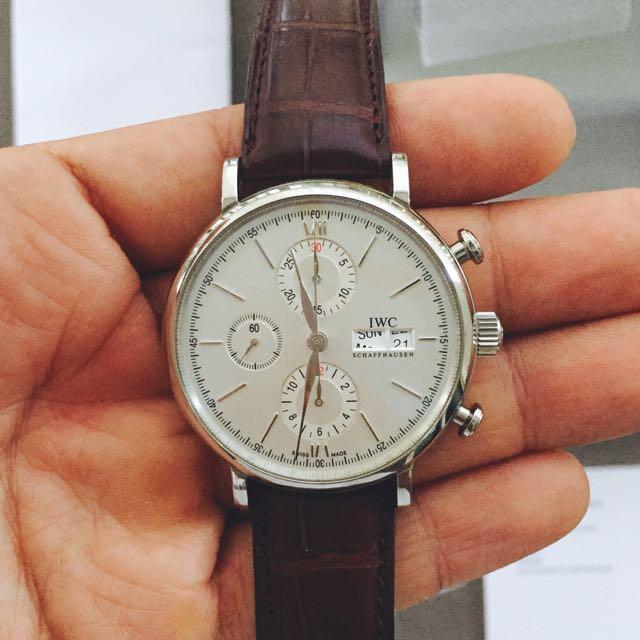size 40 855cb 258cb Mint IWC Portofino Chronograph IW391007, Luxury, Watches on ...