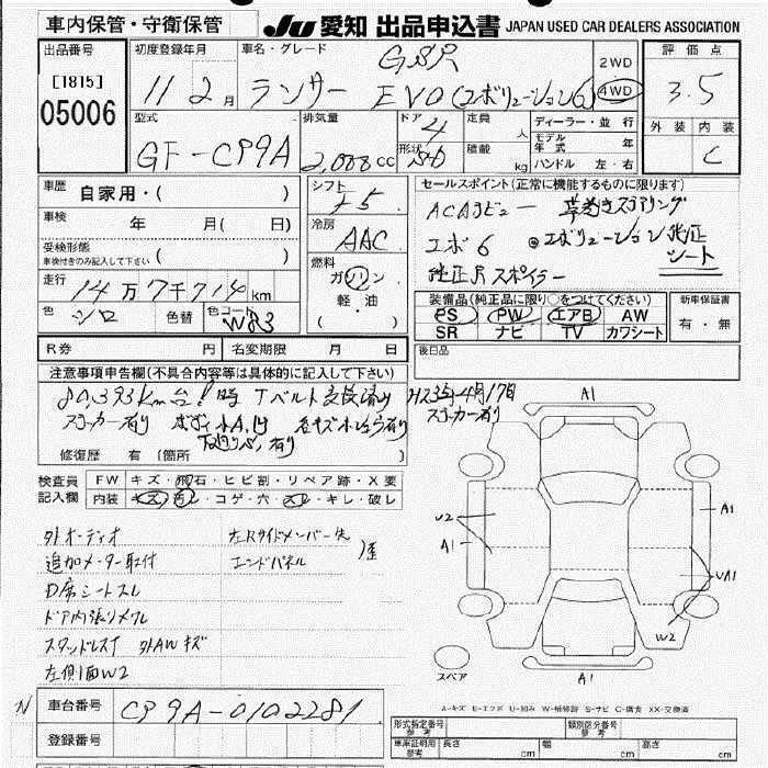 MITSUBISHI LANCER EVO 6 1999