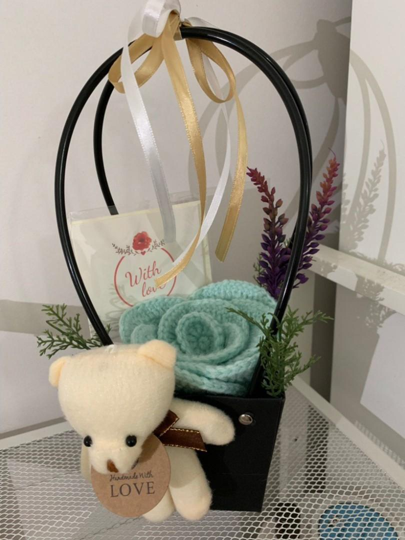 Mother's Day Crochet Rose Box