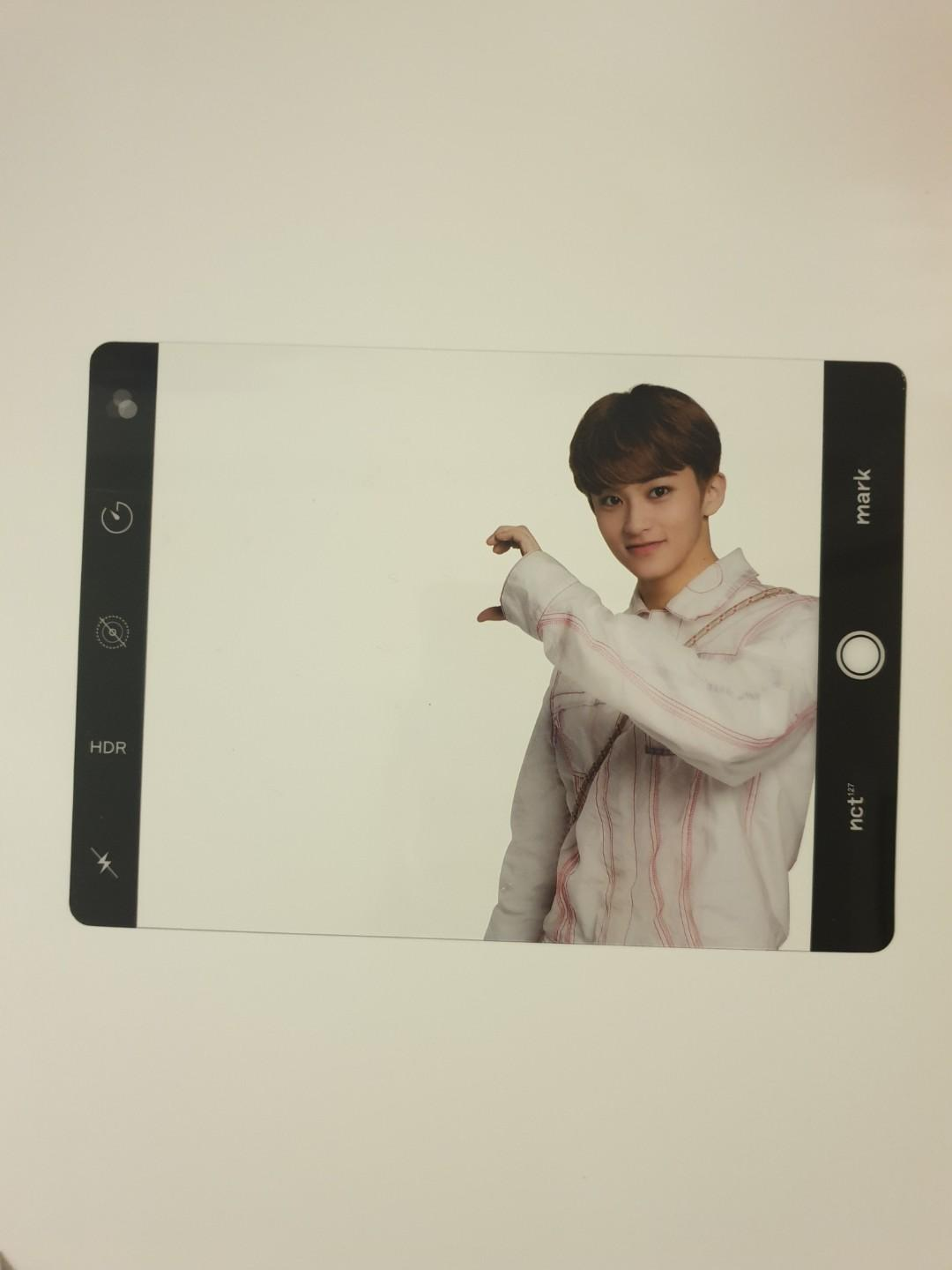 NCT127 Neocity Seoul The Origin Concert goods MARK postcard and transparent frame set