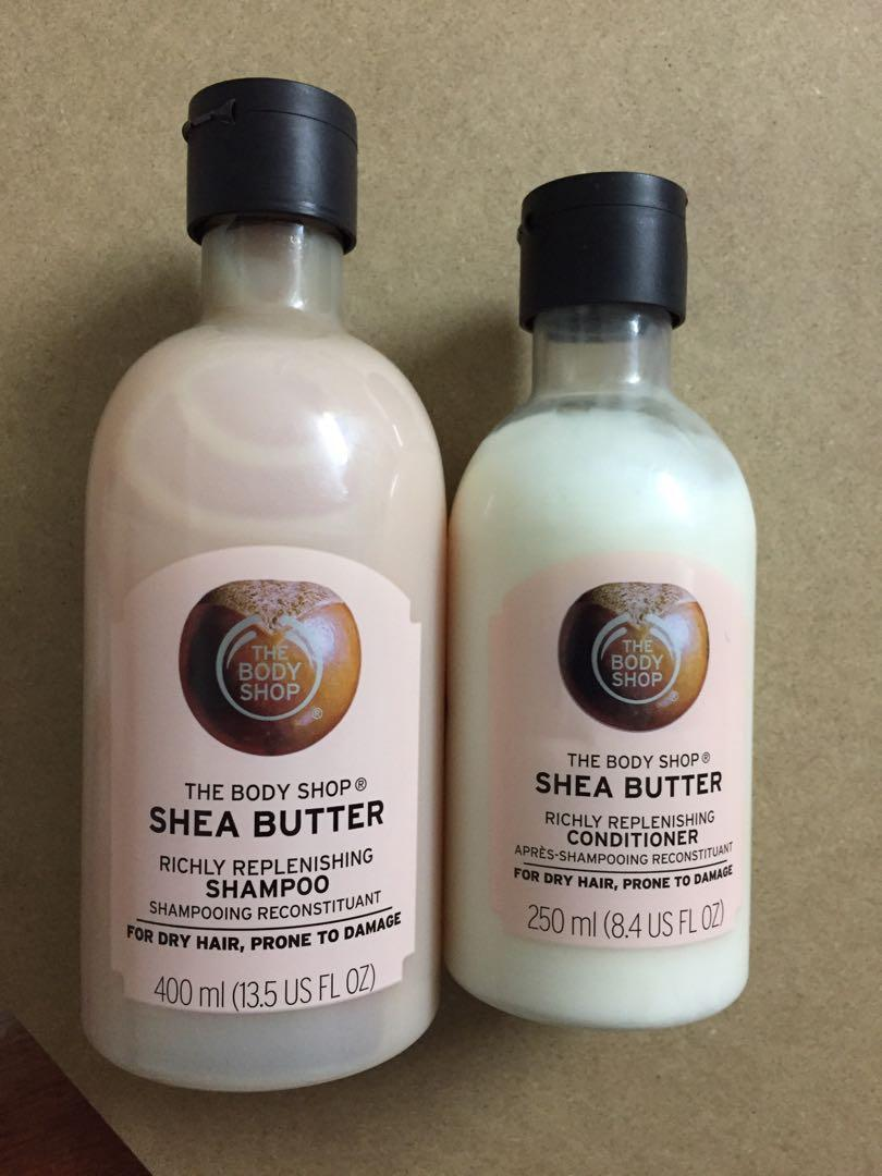 NEW! The Body Shop Shea Butter Shampoo and conditioner