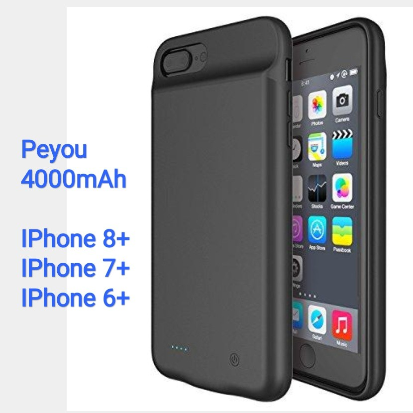 new style 56b7c 04d85 @ Peyou 4000mAh iPhone 8 Plus Battery Case/iPhone 7 Plus iPhone 6 Plus  battery case (Support Lightning Headphones), Ultra Slim Extended Backup  Battery ...