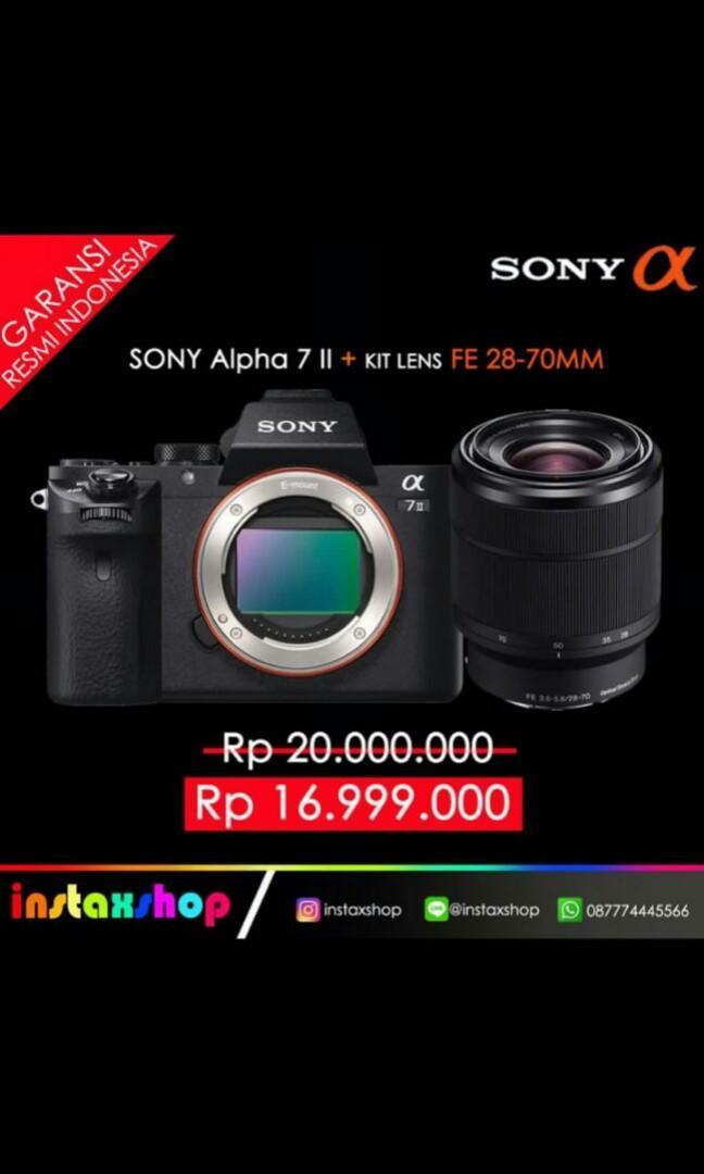 Promo SONY ALPHA 7 II + Kit Lens FE 28-70mm bisa di kredit