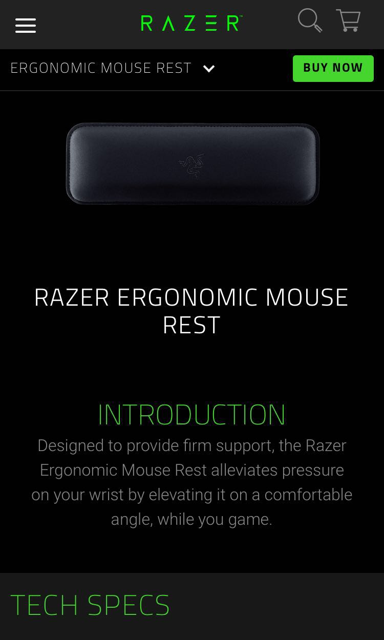 db7bc185179 Razer Ergonomic Mouse Wrist Rest, Toys & Games, Video Gaming, Gaming ...