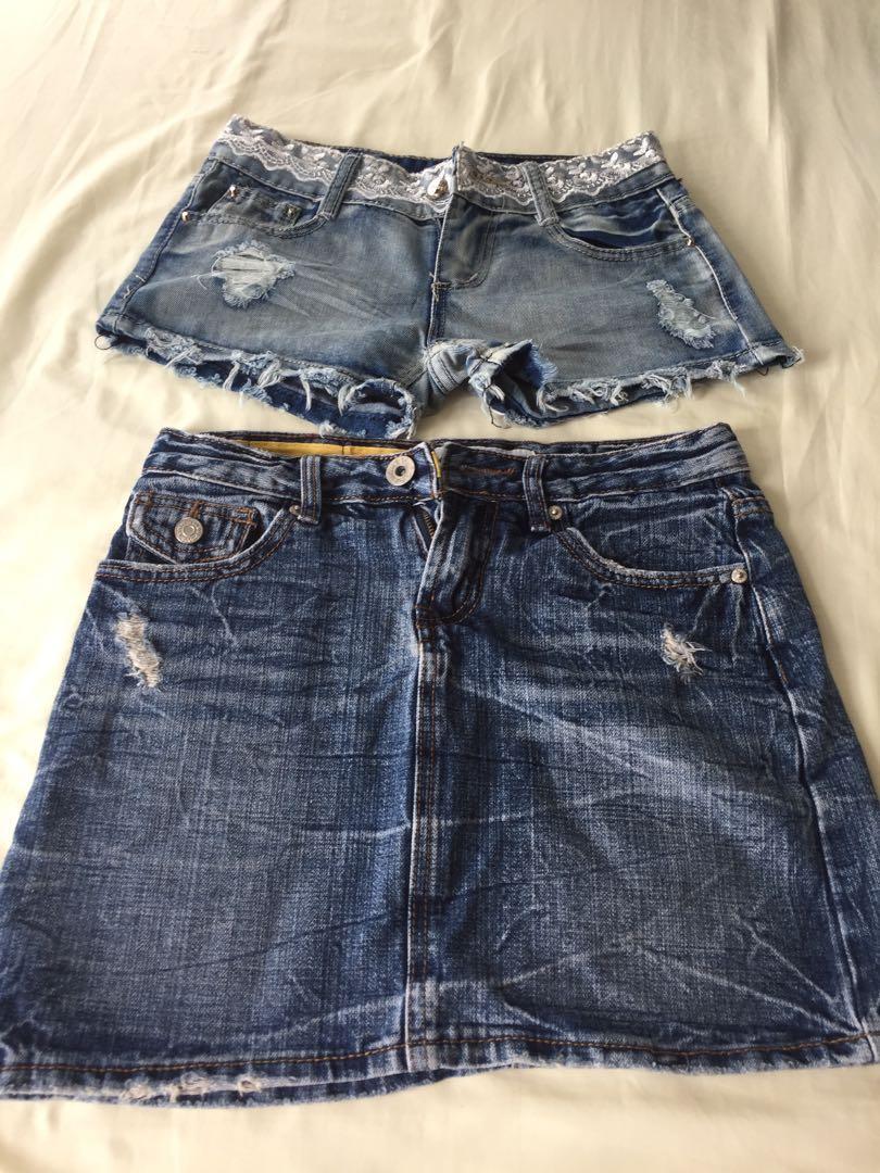 Short and mini skirt