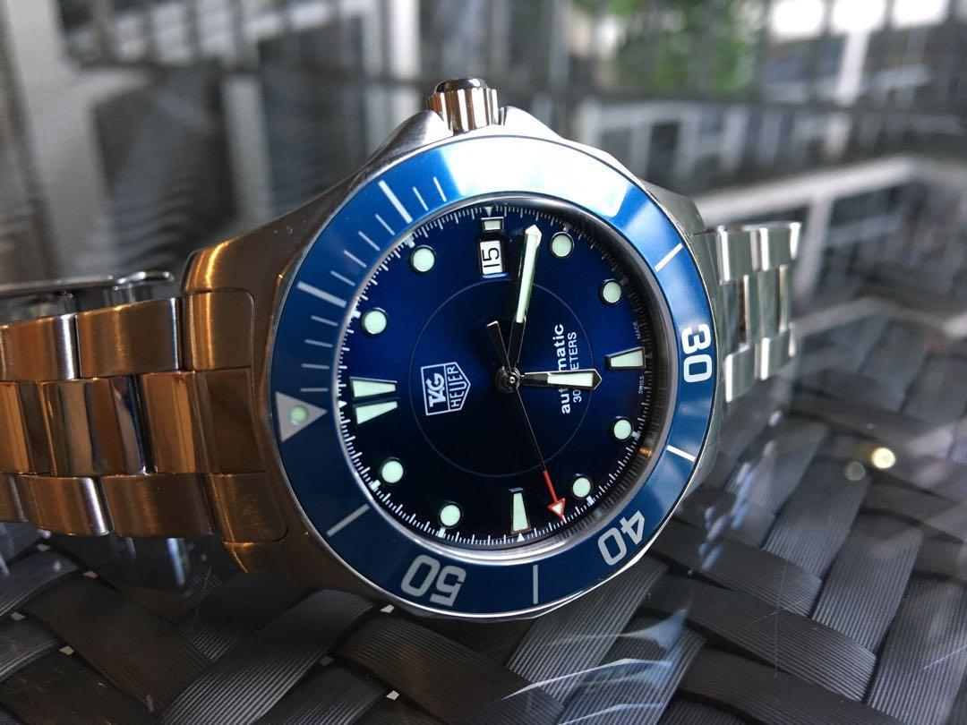 Tag Heuer Aquaracer – Automatic 300m Blue Dial - Classic Swiss Made Diver (Full set original box, papers & links)