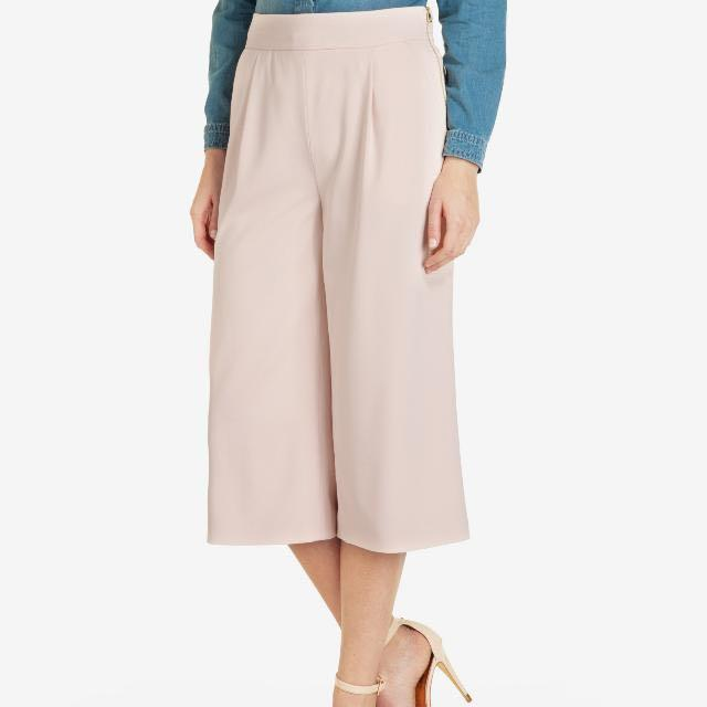 Ted Baker Tailored Midi Culottes in Pink