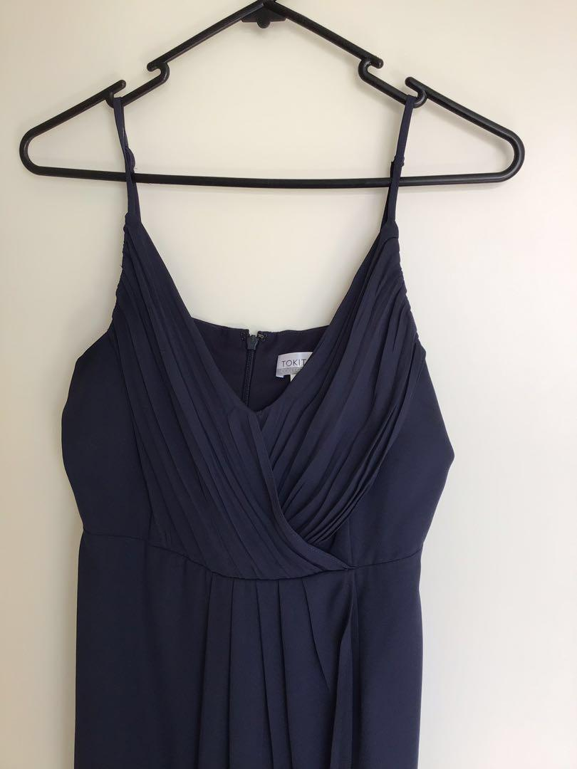 Tokito Collection Cocktail Navy Blue Dress