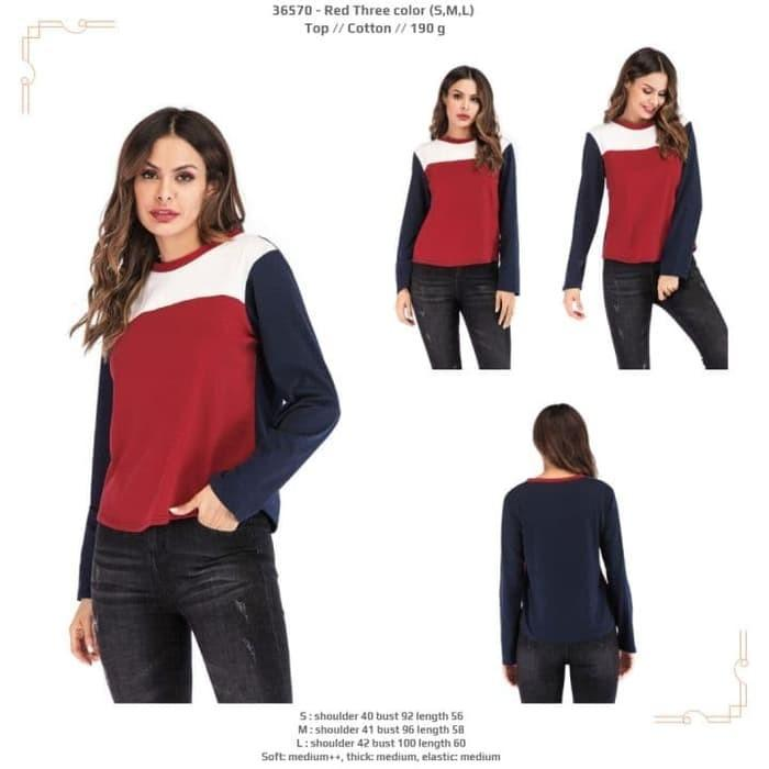 Top 36570 - Red Three color