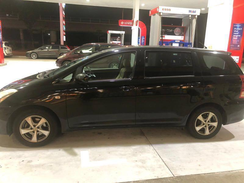 Toyota wish MPV for rent