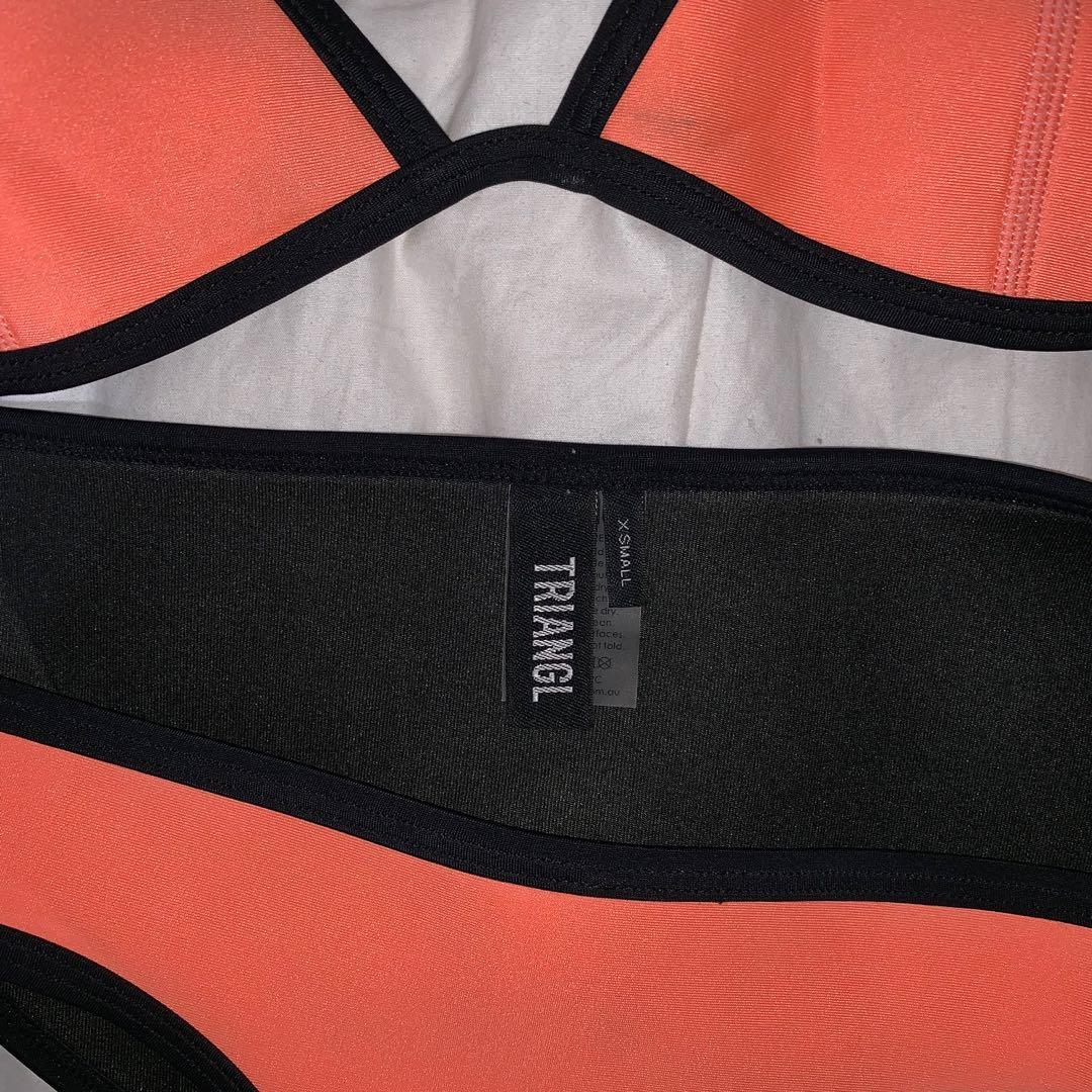 Triangl authentic coral colour bathing suit brand new