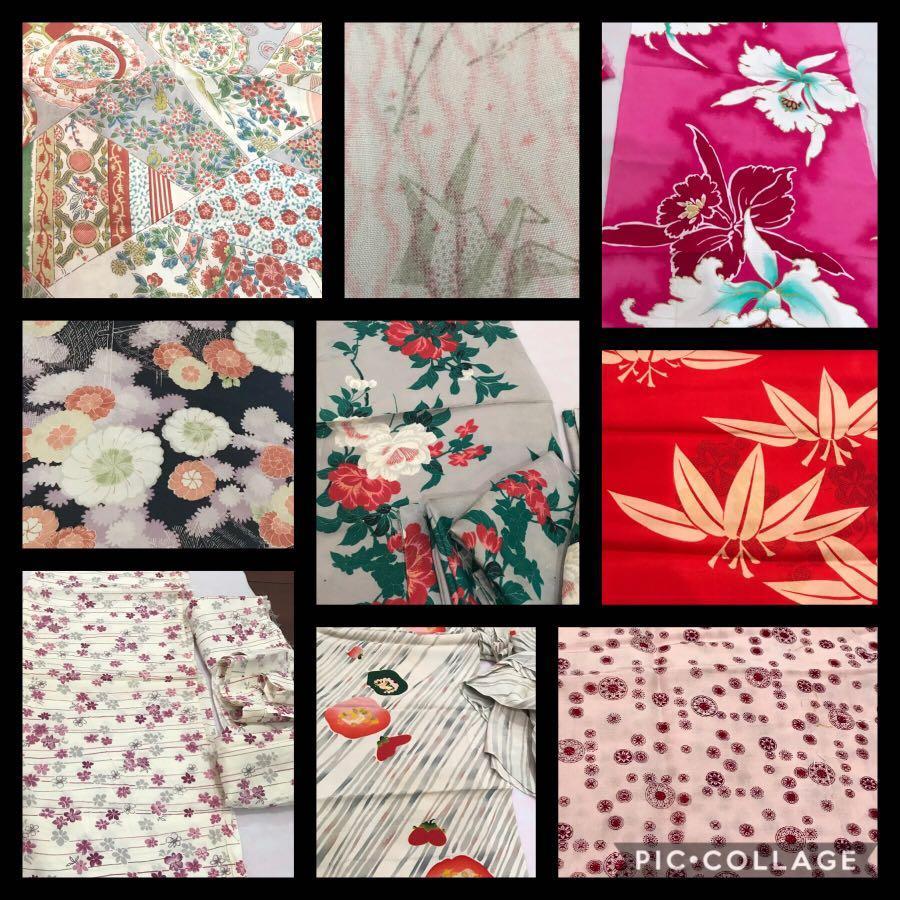 Vintage Japanese kimono fabric