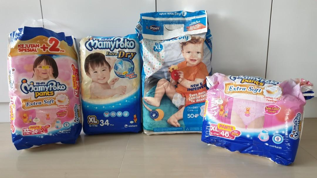 XL Mamypoko Diapers and Dryers