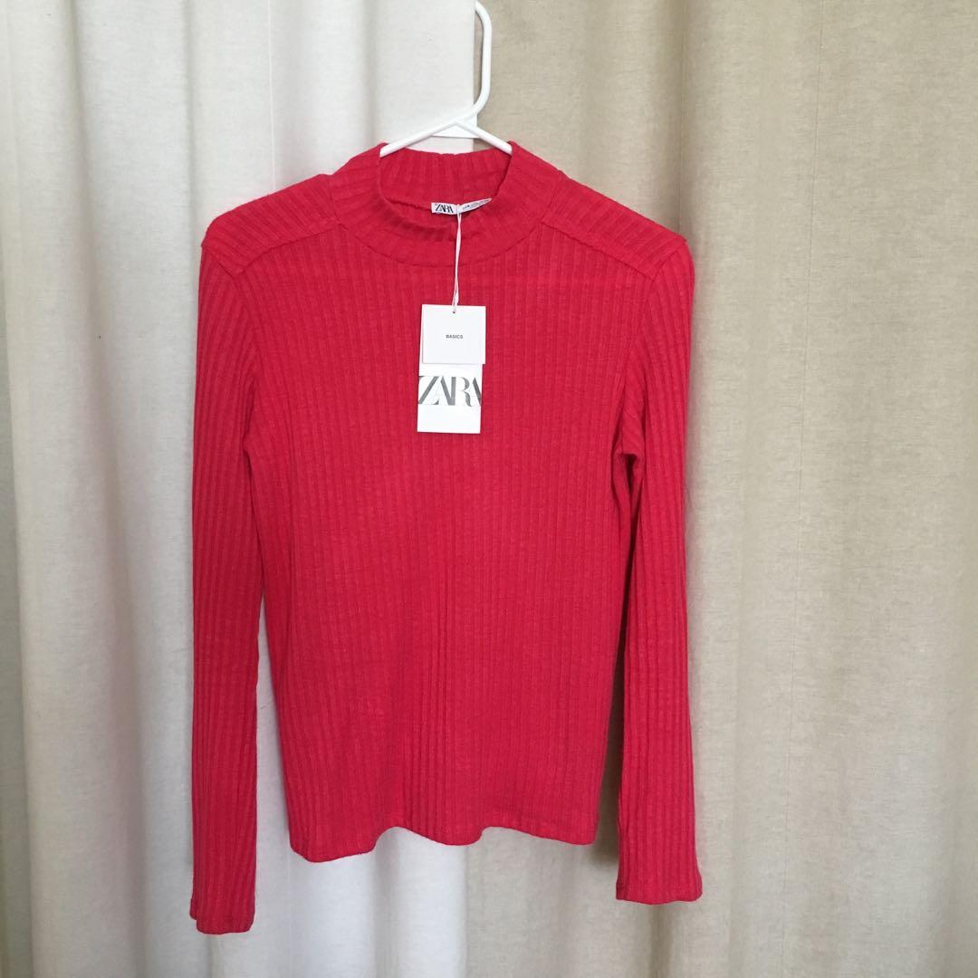 Zara Pink Ribbed Sweater