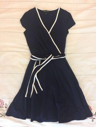 Dorothy Perkins Dark Blue V Neck Dress