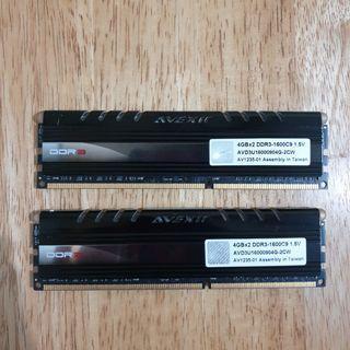 Avexir 1600MHz 4GBx2 Kit DDR3