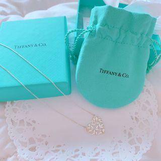 Tiffany & Co Olive Leaf Heart Necklace