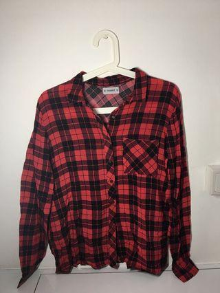 🚚 Pull & Bear Pink Flannel