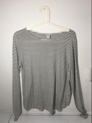 🚚 H&M Cotton Striped Top