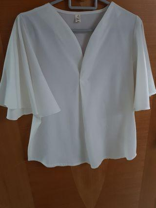 Flared sleeves blouse