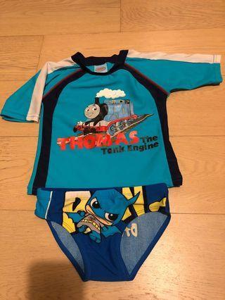 Thomas & Batman 小童泳衣 (合2-4左右)