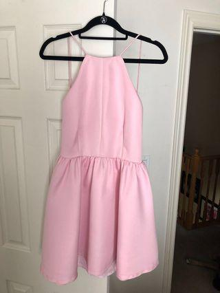 Honey Light Pink Skater Dress