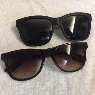 🌟 自在出清: 平讓太陽眼鏡2副 😎 sunglasses