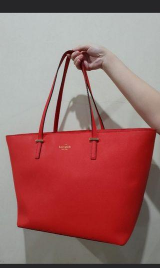 Kate Spade red tote Authentic