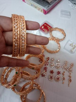 Ad stone fancy bangles