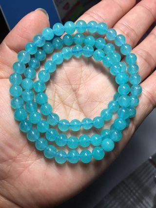 3 Round Amazonite (天河石) Bracelet (6.5mm)